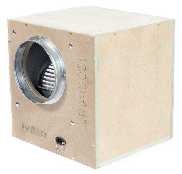 Gekko Acoustic Box Fan 8inch 200mm 1000 M3hr