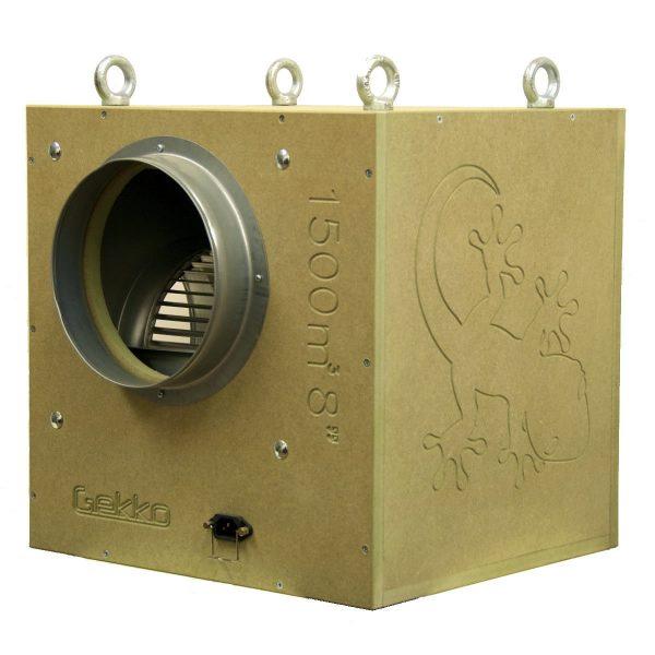 Gekko Acoustic Box Fan 8inch 200mm 1500 M3hr